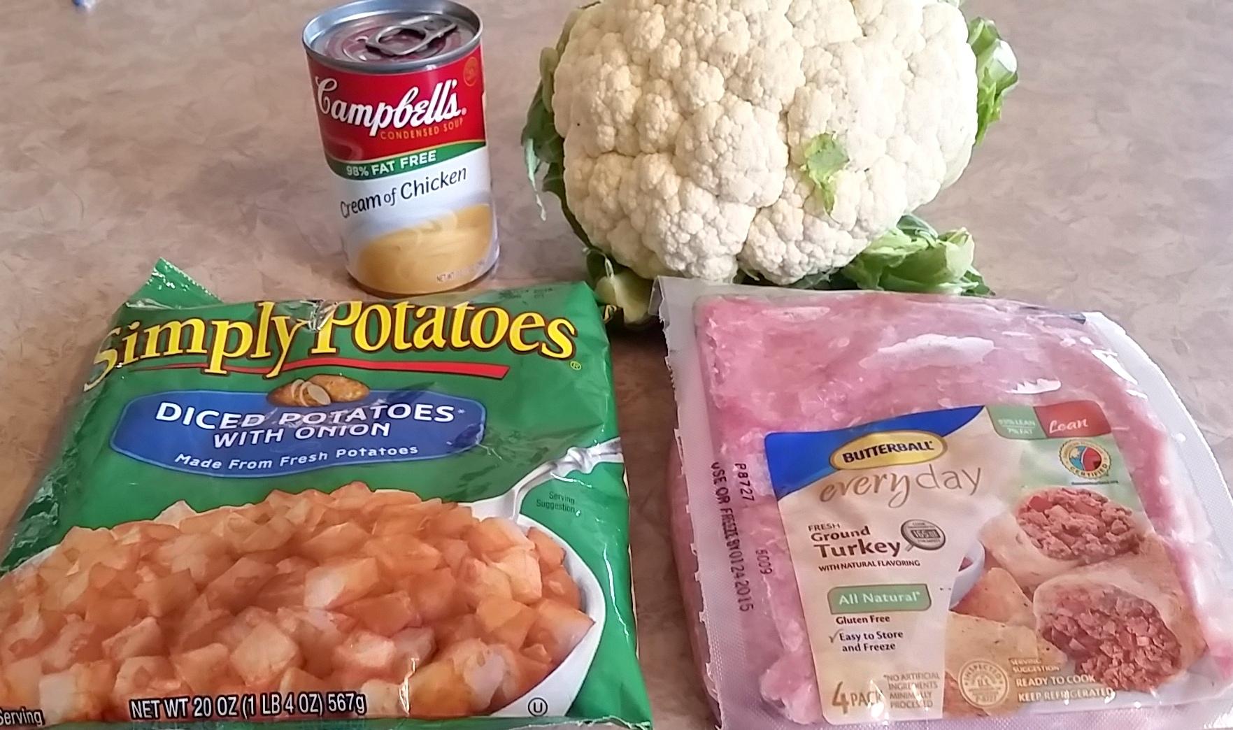 Cheesy Cauliflower Casserole With Ground Turkey Dad
