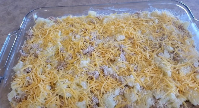 My Cheesy Cauliflower Casserole with Ground Turkey is a great way to get your family to eat more vegetables in a single dish.