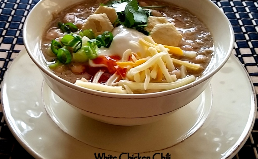 White Chicken Chili for National ChiliDay