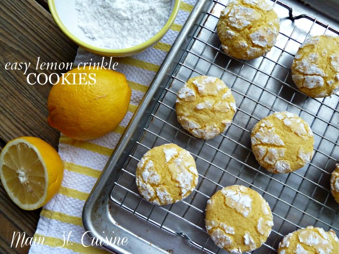 easy lemon crinkle cookies from a mix