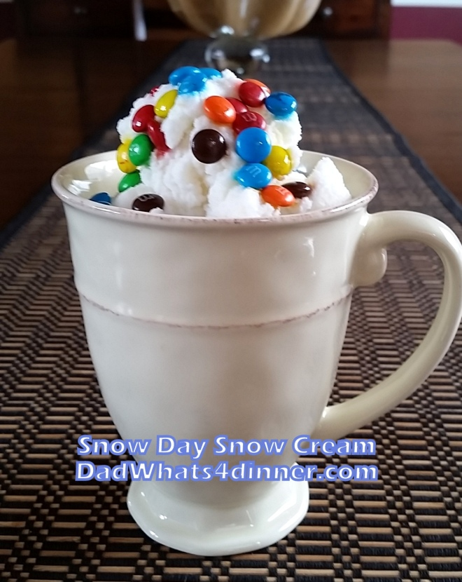 Make my Snow Day Snow Cream if you want a great way to celebrate a snow day with the kids. A fun tasty treat made with fresh snow.