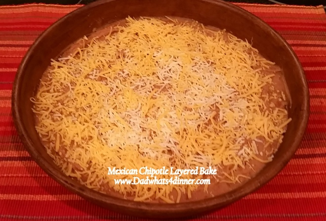 For a last minute hot and bubbly appetizer try my Mexican Chipotle Layered Bake. Quick, easy and made with ingredients you have in the house.