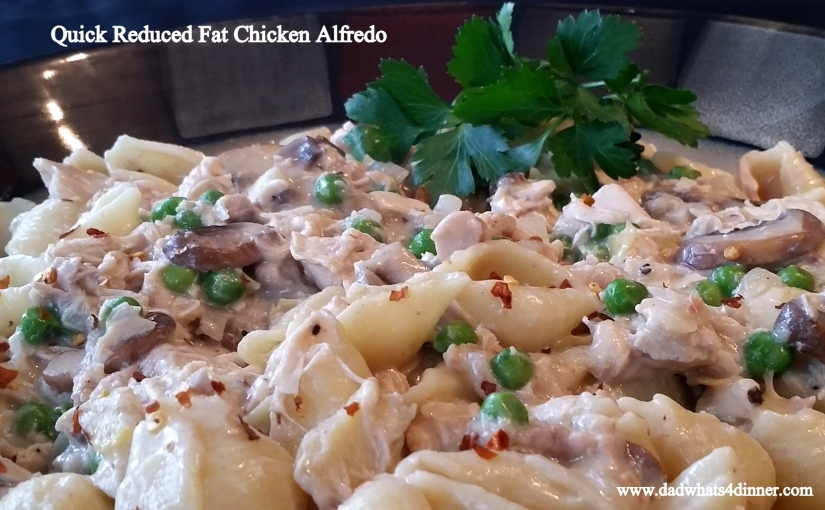 Quick Reduced Fat ChickenAlfredo