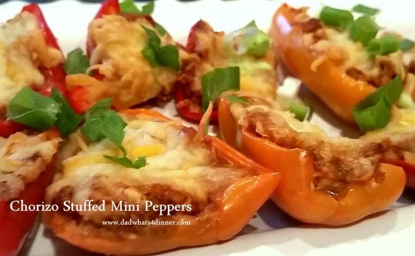 Chorizo Stuffed Mini Sweet Peppers plus MiniNachos