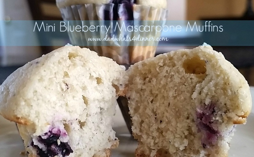 Mini Blueberry Mascarpone Muffins