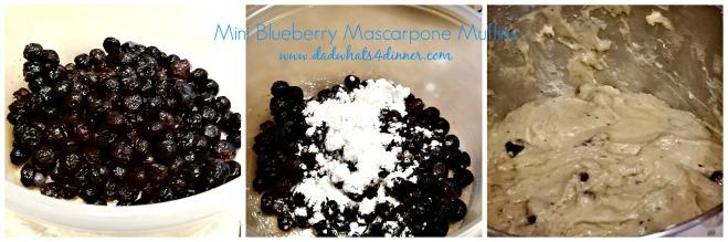 Mini Blueberry Mascarpone Muffins