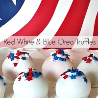 Red, White & Blue Oreo Truffles